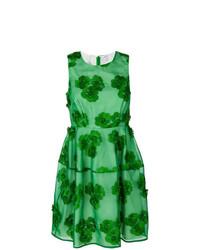 Robe évasée à fleurs verte P.A.R.O.S.H.