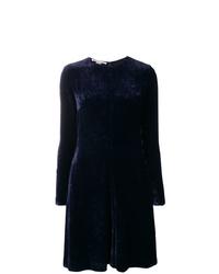 Robe évasée bleu marine Stella McCartney