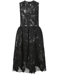 Robe évasée en dentelle noire Comme des Garcons