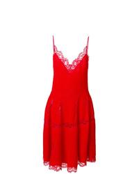Robe évasée en dentelle rouge Givenchy