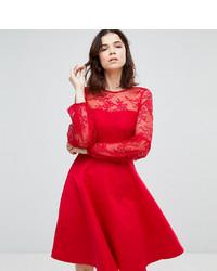Robe évasée en dentelle rouge Y.A.S Tall