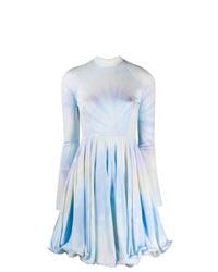 Robe évasée imprimée tie-dye bleu clair Stella McCartney