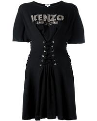 Robe évasée noire Kenzo