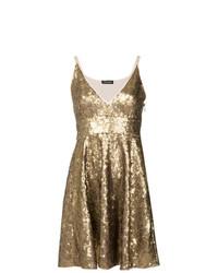 Robe évasée pailletée dorée Twin-Set