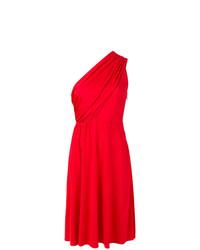 Robe évasée rouge Lanvin