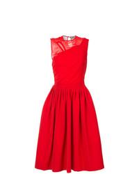 Robe évasée rouge Preen by Thornton Bregazzi