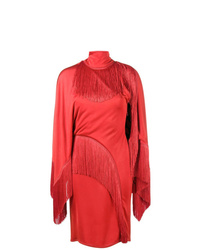 Robe fourreau à franges rouge Givenchy