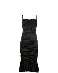 Robe fourreau à volants noire Dolce & Gabbana