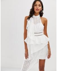 Robe fourreau blanche ASOS DESIGN