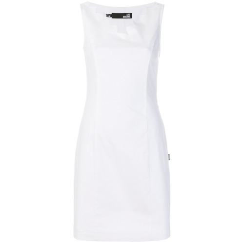 Robe fourreau blanche Love Moschino
