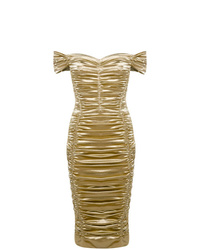 Robe fourreau dorée Dolce & Gabbana