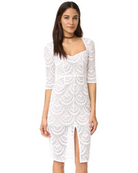 Robe fourreau en dentelle blanche For Love & Lemons