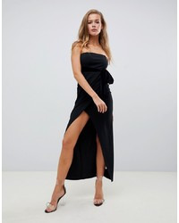 Robe fourreau en velours noire Missguided