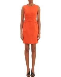 Robe fourreau orange