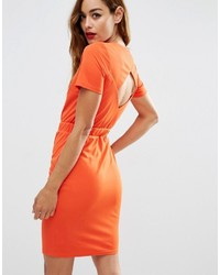 Robe fourreau orange Asos