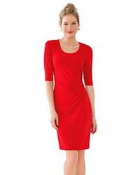 Robe fourreau rouge Calvin Klein