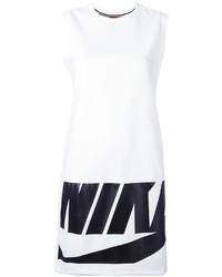 Robe imprimée blanche Nike