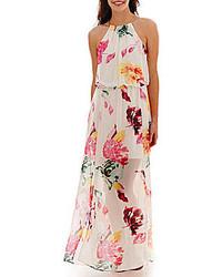 Robe longue à fleurs blanche