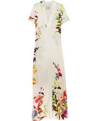 Robe longue à fleurs blanche Mason by Michelle Mason