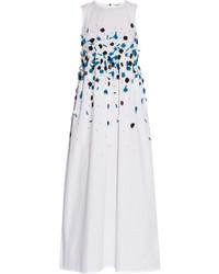 Robe longue à fleurs blanche Suno