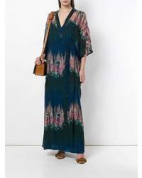 Robe longue à fleurs multicolore AILANTO