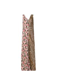 Robe longue à fleurs multicolore Alberto Biani