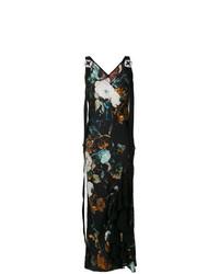 Robe longue à fleurs multicolore Antonio Marras