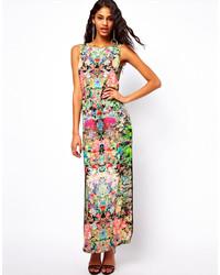 Robe longue à fleurs multicolore Asos