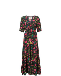 Robe longue à fleurs multicolore Figue