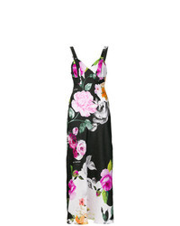 Robe longue à fleurs multicolore Off-White