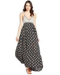 162d3397346 Acheter robe longue à fleurs noire et blanche  choisir robes longues à  fleurs noires et blanches les plus populaires des meilleures marques