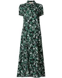 Robe longue à fleurs noire Marni