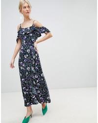 Robe longue à fleurs noire Vero Moda