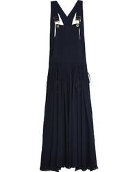 Robe longue bleu marine Chloé