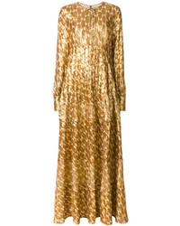 Robe longue brodée dorée Tory Burch
