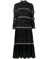 Robe longue brodée noire Etoile Isabel Marant