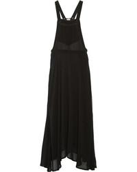 Robe longue en chiffon noire Etoile Isabel Marant