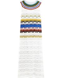 Robe longue en crochet blanche Missoni