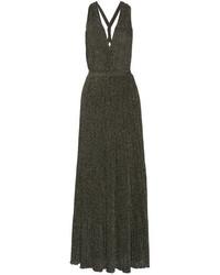 Robe longue en crochet gris foncé Missoni