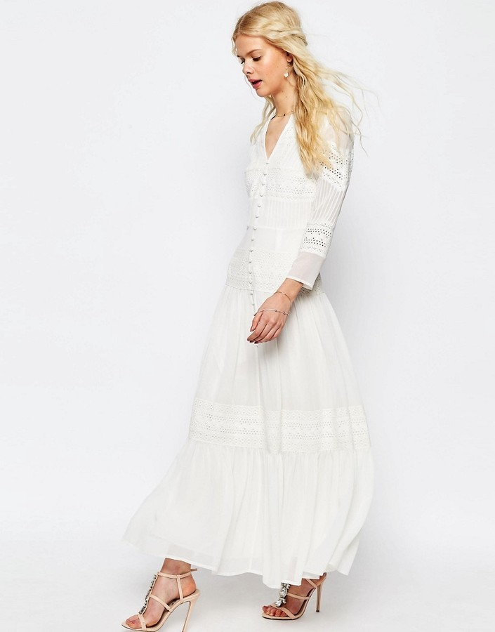 01f6315f33f6f Robe longue en dentelle blanche Asos  Où acheter et comment porter