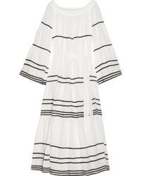 Robe longue en lin blanche