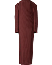 Robe longue en satin bordeaux Dion Lee