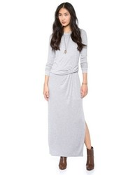 Robe longue grise