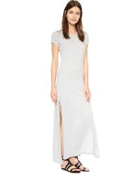 Robe longue grise Velvet