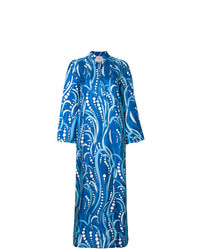 Robe longue imprimée bleue La Doublej