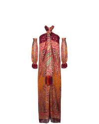 Robe longue imprimée bordeaux Etro