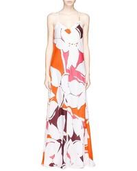 Robe longue imprimée multicolore