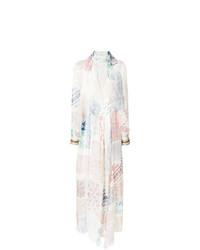Robe longue imprimée multicolore Chloé