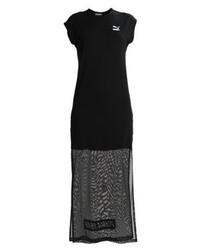 Robe longue imprimée noire Puma