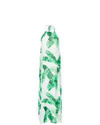 Robe longue imprimée vert menthe BRIGITTE